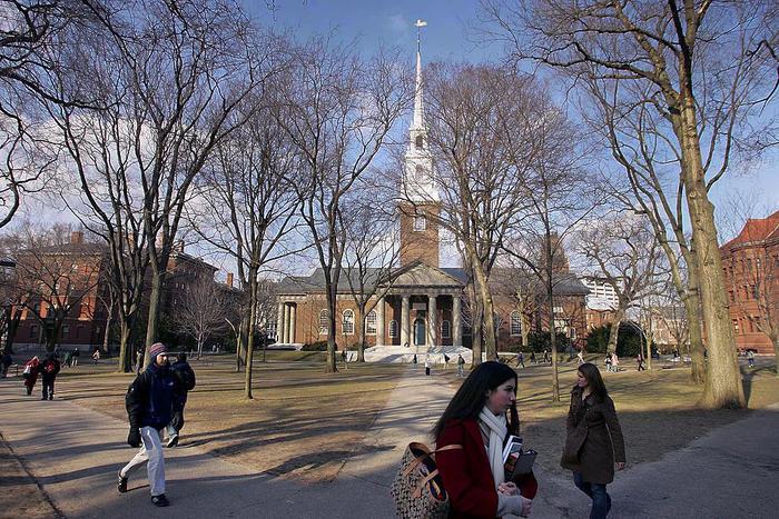 La Universidad de Harvard, febrero de 2006 en Cambridge, Massachusetts.