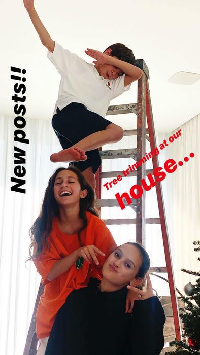 Hijos de Jennifer Lopez con una de las hijas de Alex Rodriguez