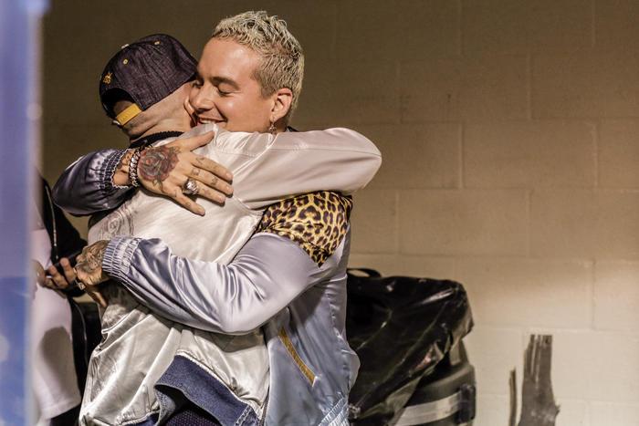 J Balvin y Yandel se encuentran en los ensayos de Premios Billboard 2016