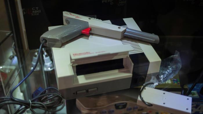 Consola NES y pistola Zapper