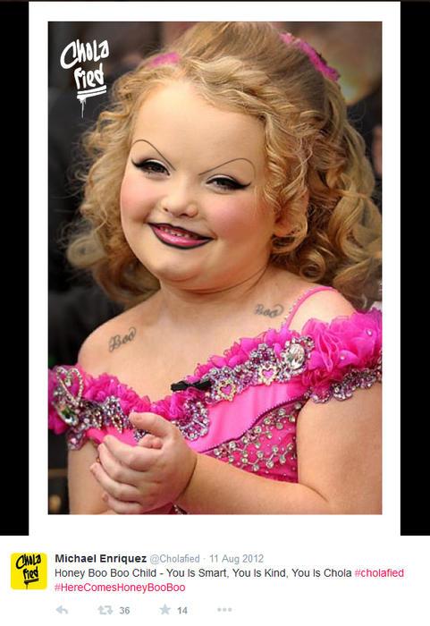 Honey Boo Boo maquillada como chola