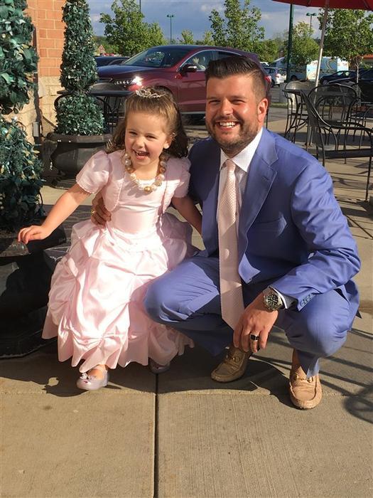 Steven D'Achille y su hija Adriana