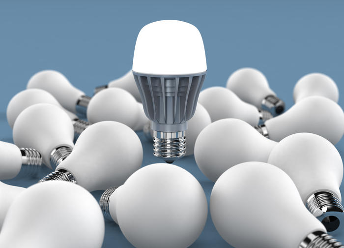 Iluminación con focos LED