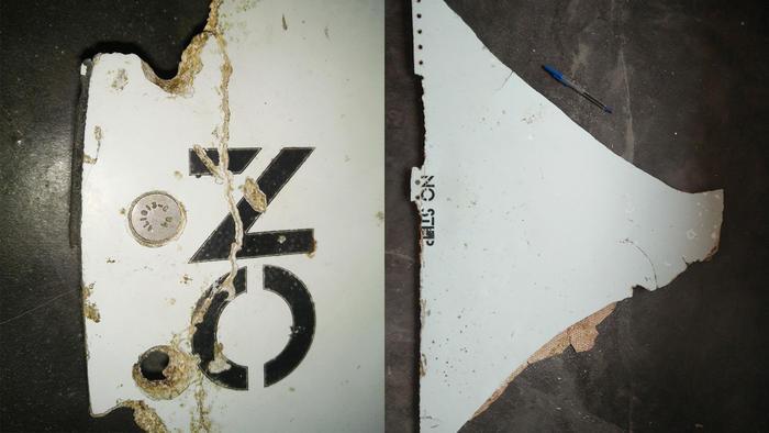 Partes encontradas del avión de Malasia