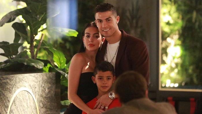 Cristiano Ronaldo y su novia Georgina Rodríguez