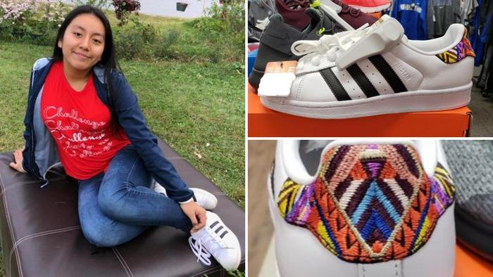 La persona que secuestró a la menor podría intentar deshacerse de unos de tenis blancos marca Adidas con rayas negras que tienen costuras de colores en la parte posterior del zapato.