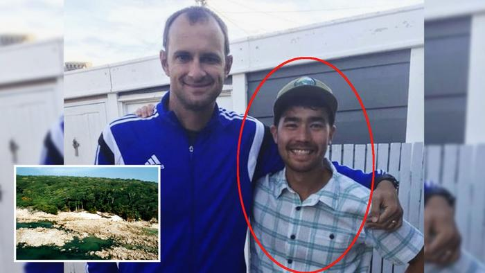 El misionero John Allen Chau (derecha) fue asesinado por una tribu en la isla Sentinel del Norte