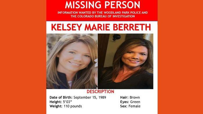 Las autoridades aún no han dado con el paradero de Kelsey Marie Berreth.