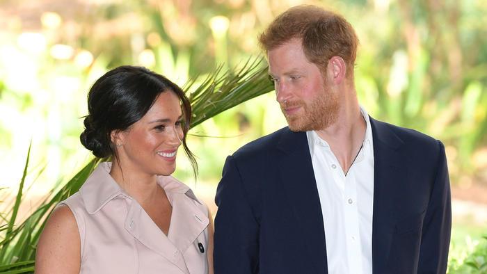 Meghan Markle y el príncipe Harry en Sudáfrica, octubre 2019