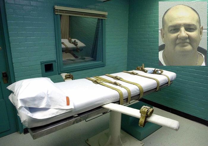 Imagen de archivo de una sala de ejecuciones en Texas. A la derecha,  Michael Wayne Nance.