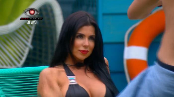 Melissa en la grabación del video clip