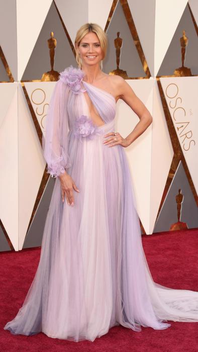 Heidi Klum en la alfombra roja de los Premios Oscar 2016