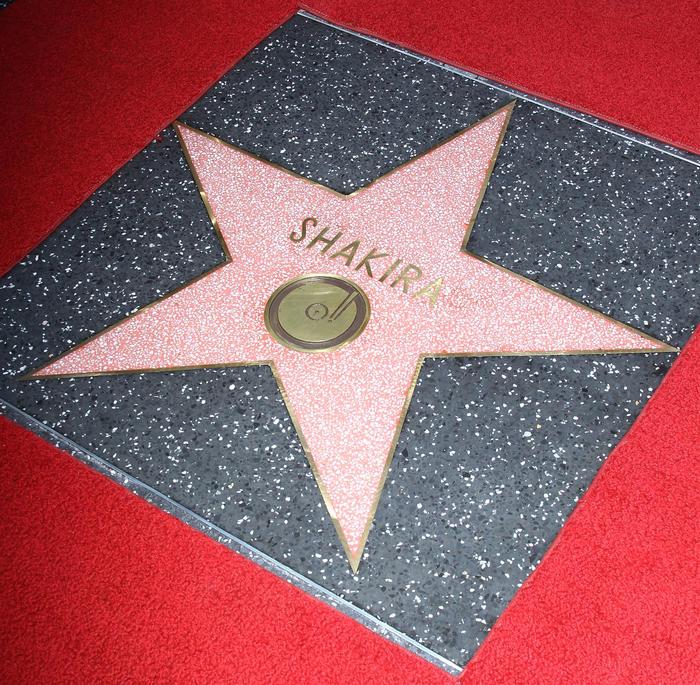 Estrella de Shakira en el Walk of Fame