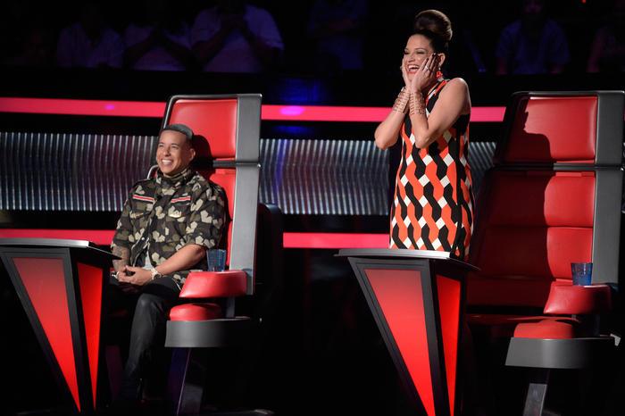 Daddy Yankee y Natalia Jiménez en la primera noche de la Etapa Final de La Voz Kids