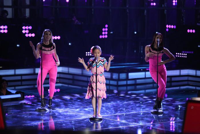 Carmen en la segunda gala de La Voz Kids