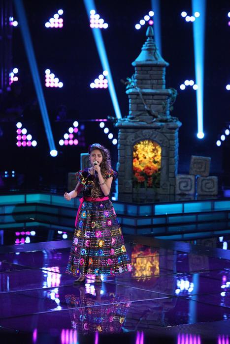 Magallie en la segunda gala de La Voz Kids