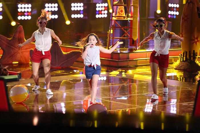 Samantha en la segunda gala de La Voz Kids