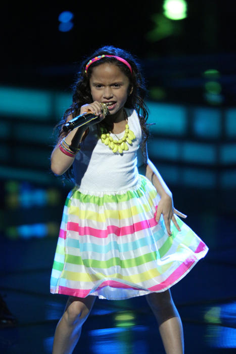 Carmen en la semifinal de la voz kids