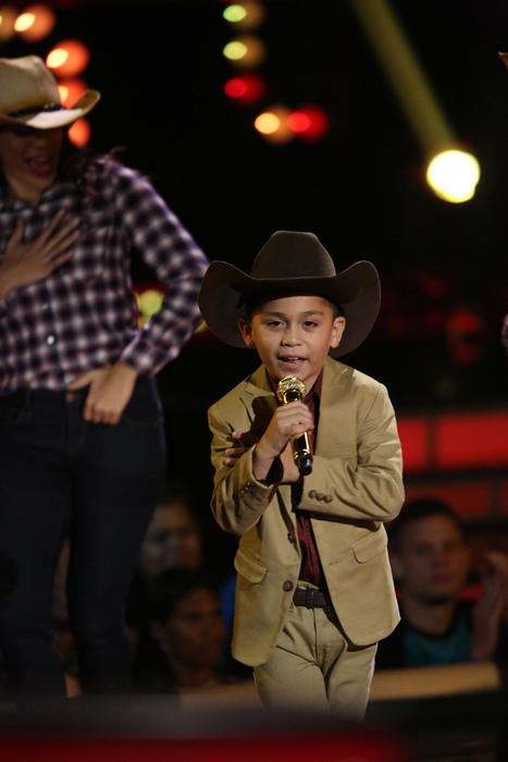 Joel en la semifinal de La Voz Kids