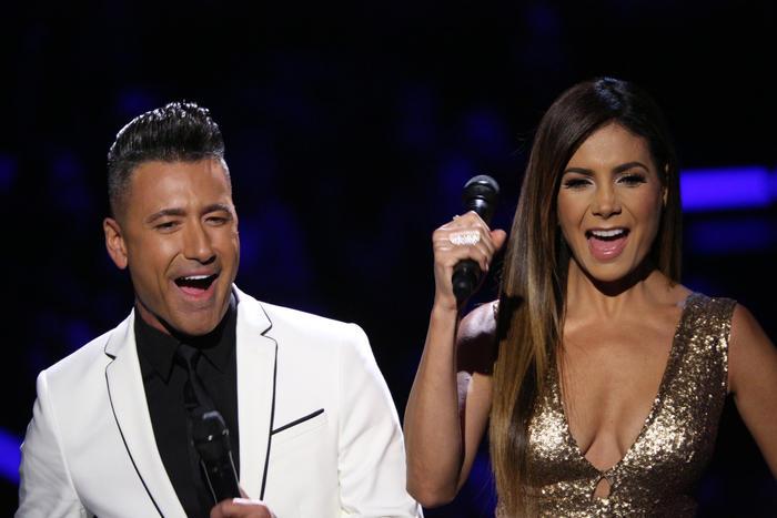 Jorge Bernal y Patricia Manterola en la semifinal de La Voz Kids