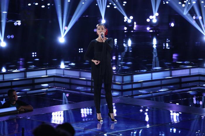 Natalia Jiménez en la semifinal de La Voz Kids.