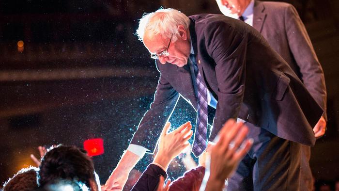 Senador Bernie Sanders en acto político