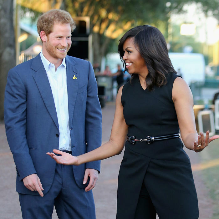 El príncipe Harry con Michelle Obama