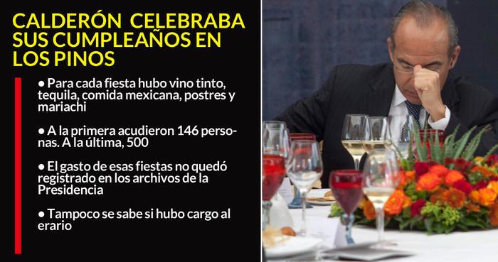 Fiestas de Calderón en Los Pinos quedaron en reseña de revistas: él no dejó registro de los gastos