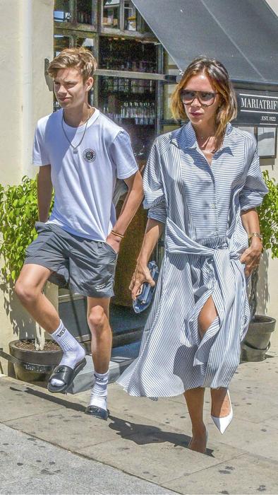 Victoria Beckham y Romeo Beckham