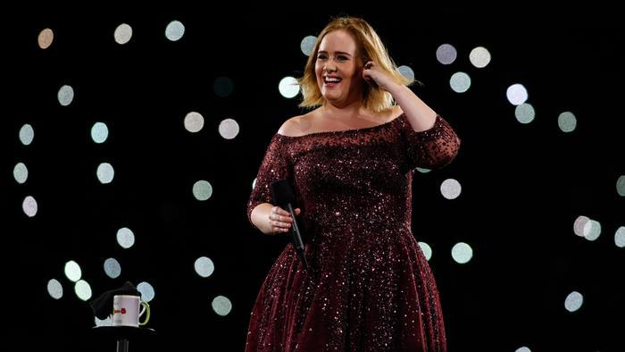 Adele en su concierto