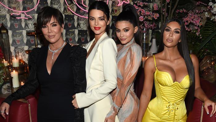 Kris Jenner con sus hijas