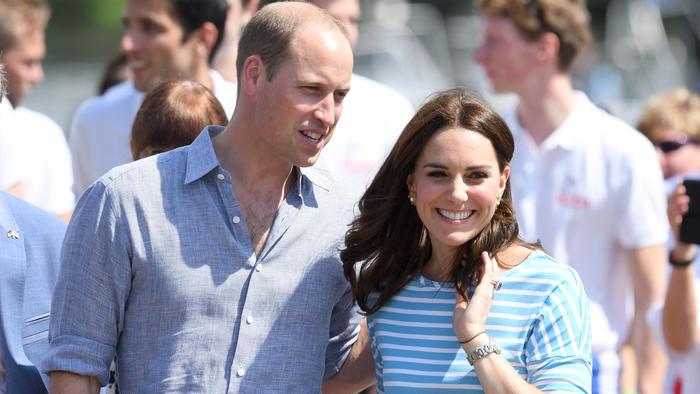El príncipe William y Kate Middleton en su segundo día de visita en Alemania en julio de 2017