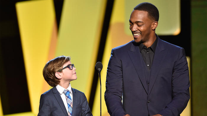 Jacob Tremblay and Anthony Mackie