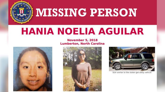 hania noelia aguilar fue secuestrada el 5 de noviembre