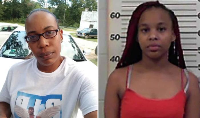 A la izquierda Erica Hall, la víctima, y la derecha Amariyona Hall, su hija mayor.