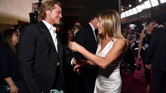Brad Pitt y Jennifer Aniston en la ceremonia 26th de los Annual Screen Actors Guild Awards