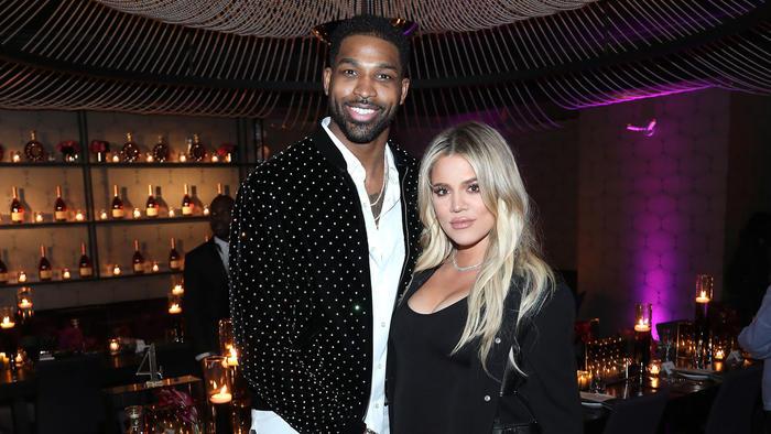 Tristan Thompson y Khloe Kardashian en 2018