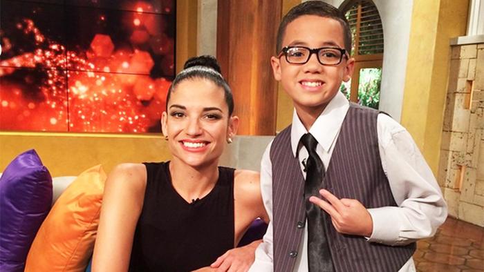 Natalia Jiménez junto a Jonael Santiago