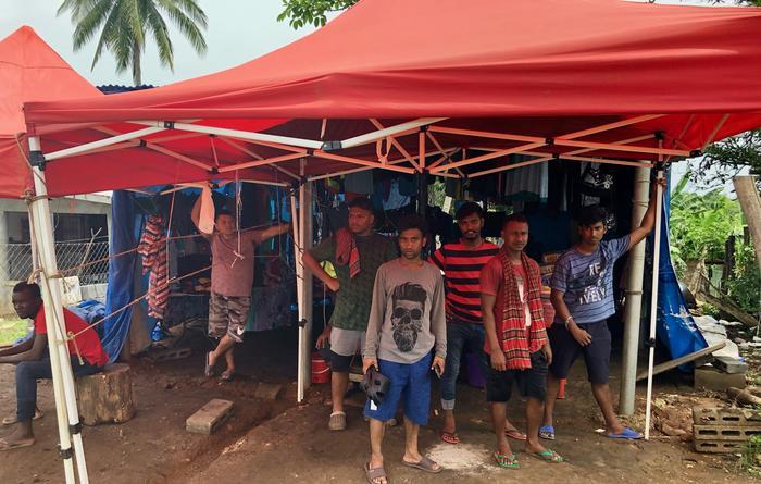 Entre los migrantes que llega al albergue de La Peñita, hay más de un centenar de niños y jóvenes