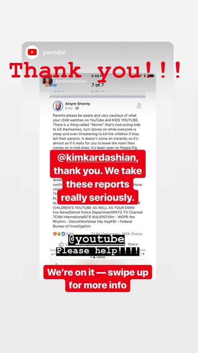328e55a21 Kim Kardashian pide a YouTube Kids que elimine el  Momo Challenge  y ...