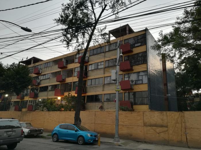 El edificio 3b del multifamiliar de Tlalpan se encuentra deshabitado y en espera de ser restaurado.