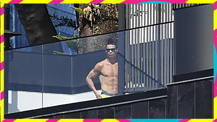Cristiano Ronaldo cuarentena coronavirus piscina
