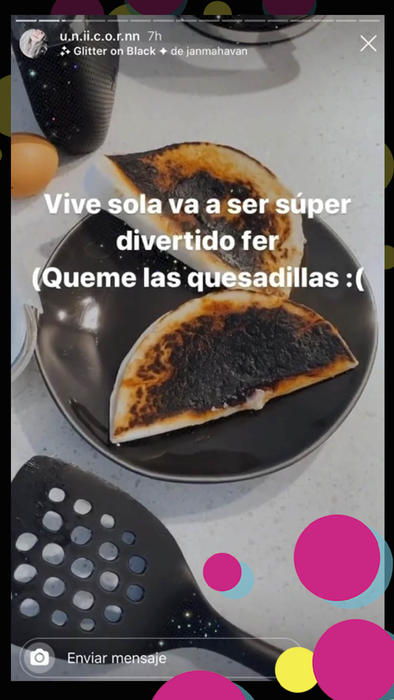 Fernanda Castro quesadillas quemadas