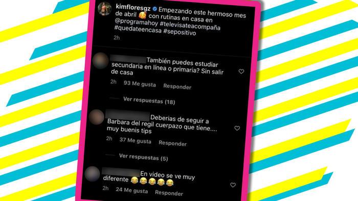 Kimberly Flores comentarios licra