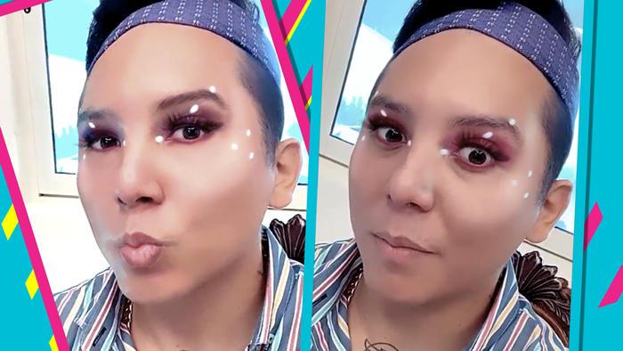 Edwin Luna Maquillado como Kimberly Flores 2