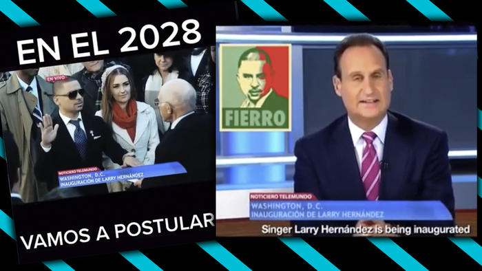 Larry Hernández parodia presidente