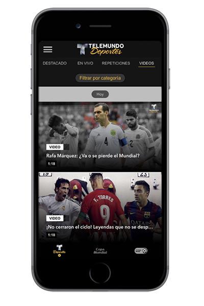iphone Mockup Telemundo deportes en VIVO app