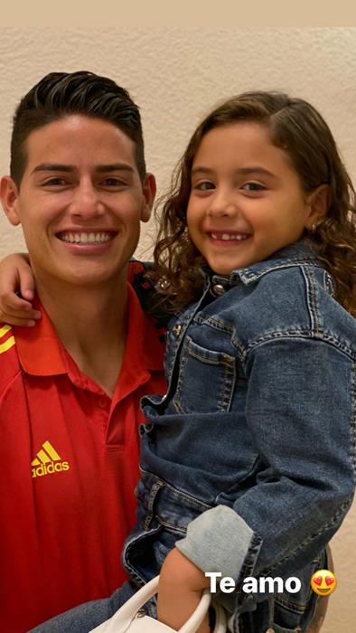 James Rodríguez con su hija Salomé