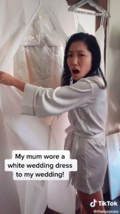 Jane Lu descrube el vestido que usará su mamá en su boda