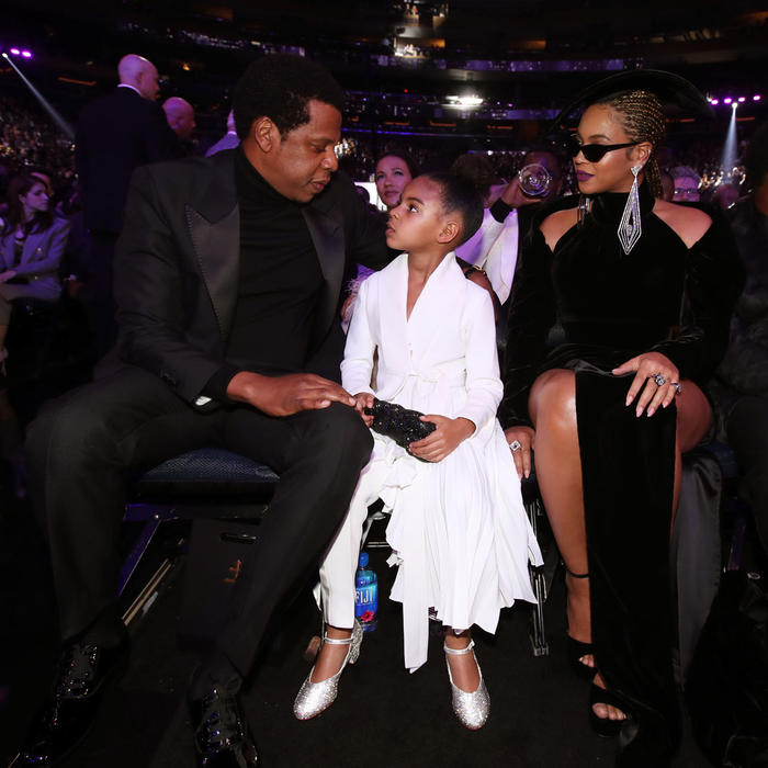 Jay Z con Blue Ivy y Beyoncé
